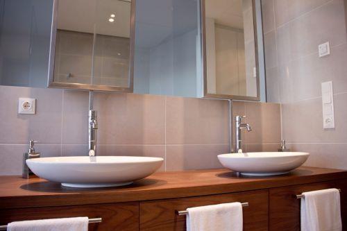简洁气质现代风格卫生间洗手台装修设计