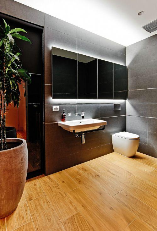 自然清新现代风格卫生间洗手台装修设计
