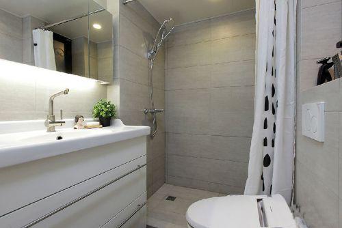 现代简约一居室卫生间背景墙装修效果图
