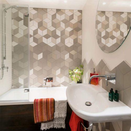 个性时尚现代风格卫生间背景墙设计图