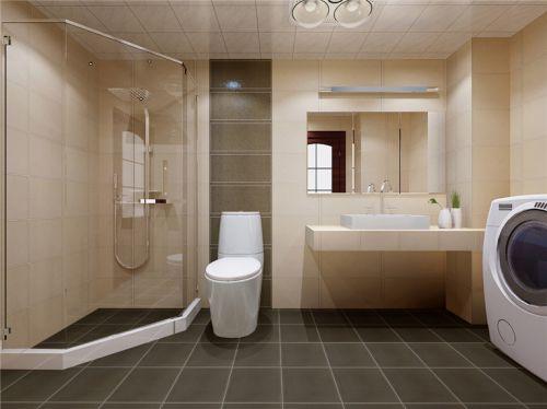 现代简约二居室卫生间背景墙装修图片