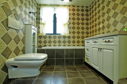 现代简约三居室卫生间吧台装修效果图欣赏