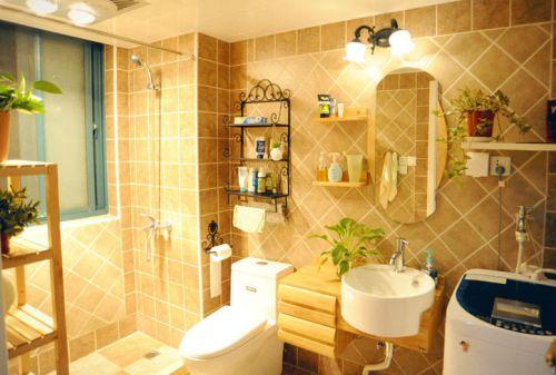 现代简约三居室卫生间梳妆台灯具装修效果图大全
