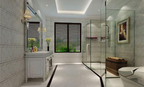 现代简约三居室卫生间浴室柜装修图片