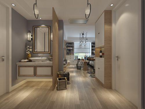 现代简约四居室卫生间灯具装修效果图欣赏