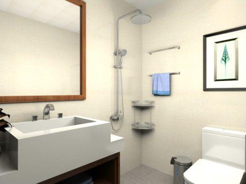 现代简约二居室卫生间瓷砖装修效果图大全