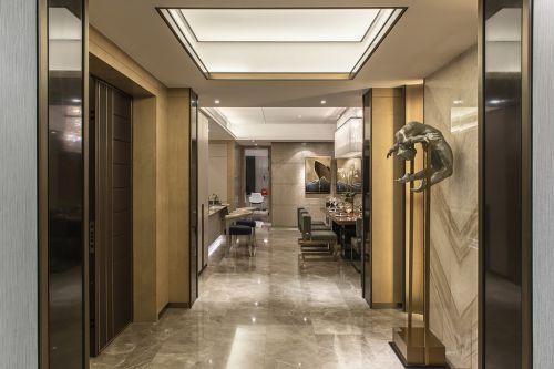 现代简约四居室玄关壁纸装修效果图欣赏