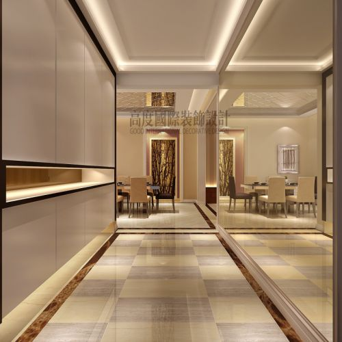 现代简约三居室玄关走廊装修图片