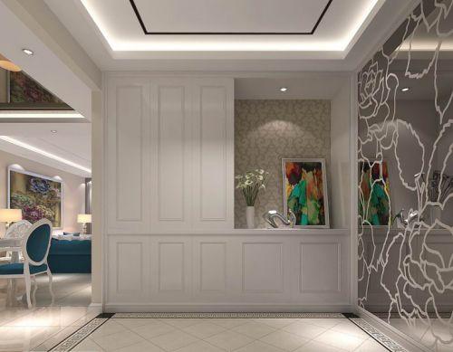 现代简约二居室玄关灯具装修效果图欣赏