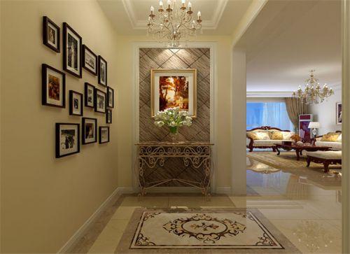 现代简约三居室玄关灯具装修效果图大全