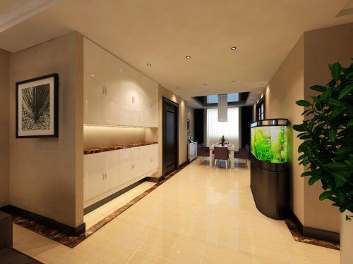 现代简约三居室玄关鞋柜装修效果图欣赏