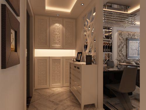 现代简约二居室玄关鞋柜装修效果图欣赏