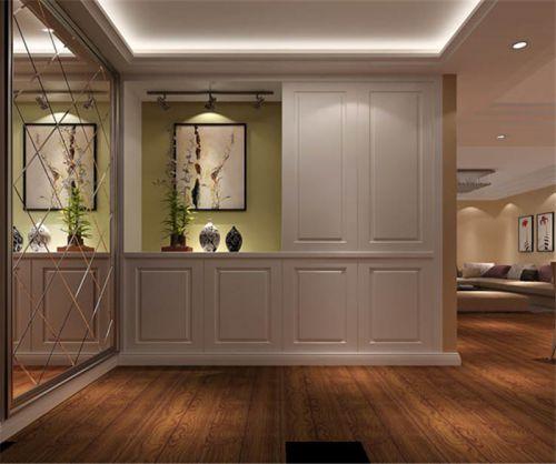 现代简约三居室玄关楼梯装修效果图大全