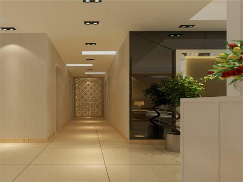 现代简约三居室玄关灯具装修图片
