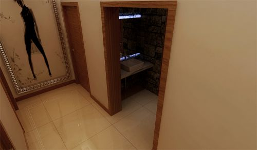 现代简约五居室玄关隔断装修效果图