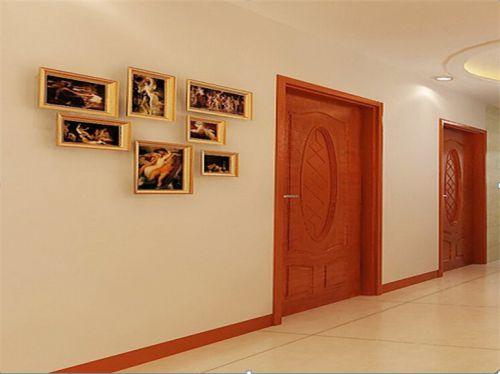 现代简约二居室玄关灯具装修图片