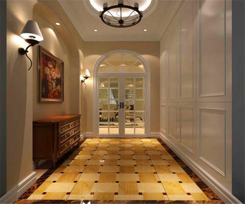 现代简约四居室玄关走廊装修效果图欣赏