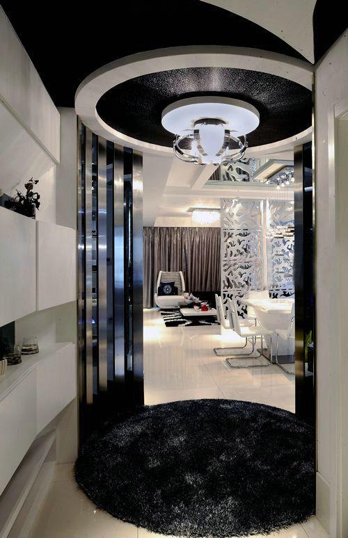 现代简约三居室玄关装修效果图大全