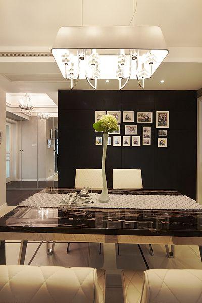 精致现代风格餐厅餐桌装修实景图