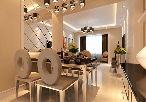 现代简约三居室餐厅吊顶装修效果图欣赏