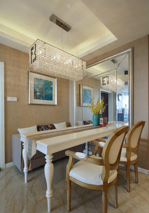 典雅现代风格餐厅灯具装修实景图