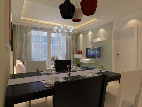 现代简约三居室餐厅餐桌装修效果图欣赏