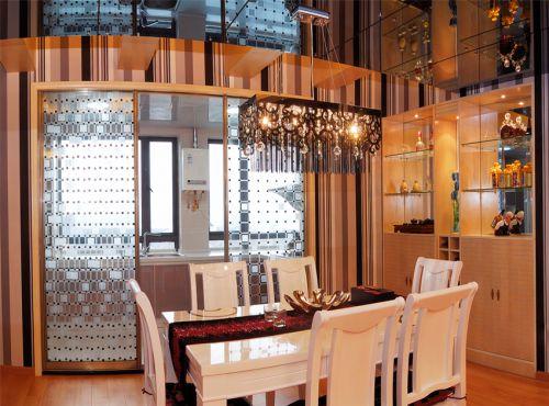 现代简约三居室餐厅酒柜装修效果图