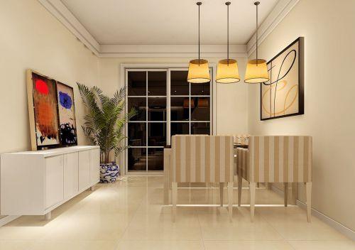 现代简约风格米色餐厅吊顶装修效果图