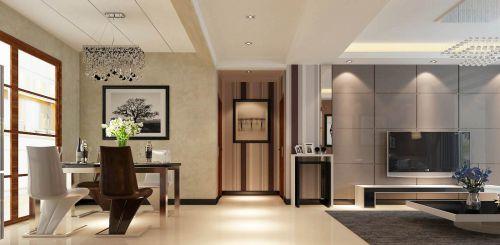 二居室现代风格灰色餐厅灯具效果图