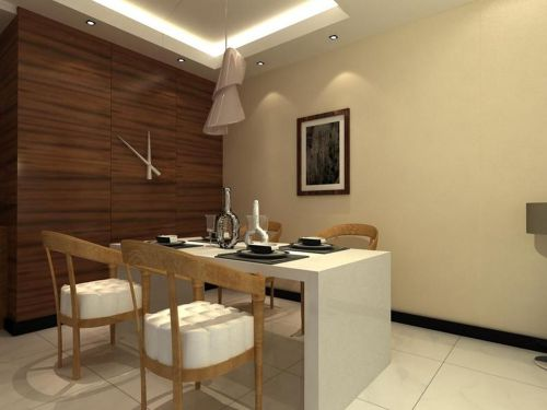 现代中式风格三居室餐厅装修图片欣赏
