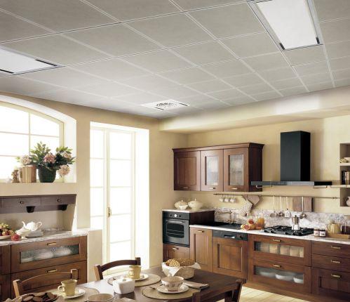 现代简约三居室餐厅网格吊顶装修效果图