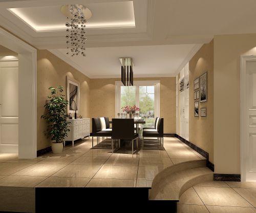 现代简约三居室餐厅照片墙装修效果图