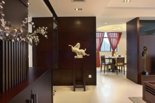 现代简约三居室餐厅吊顶装修图片