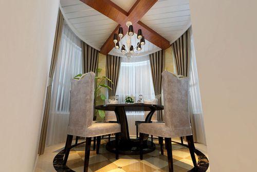 现代奢华三居室餐厅装修效果图欣赏