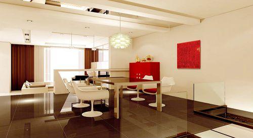 现代简约别墅餐厅窗帘装修效果图