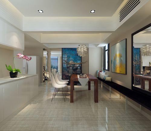 现代雅致五居室餐厅吊顶装修效果图