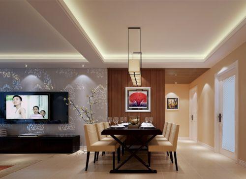 现代简约三居室餐厅吊顶装修效果图大全
