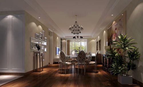现代简约三居室餐厅窗帘装修效果图欣赏