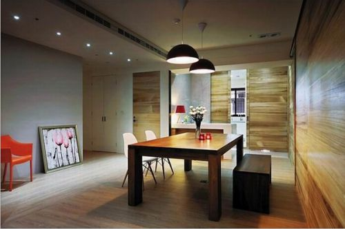 现代简约二居室餐厅装修图片欣赏