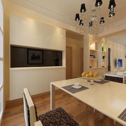 现代简约二居室餐厅吊顶装修效果图