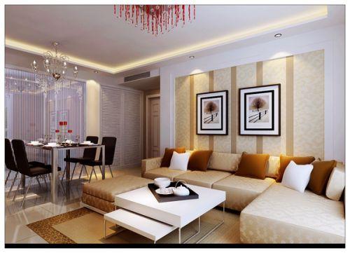 现代简约二居室餐厅沙发装修效果图大全