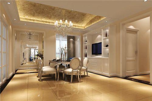 现代简约五居室餐厅窗帘装修效果图欣赏