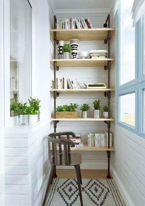 现代简约一居室阳台瓷砖装修效果图