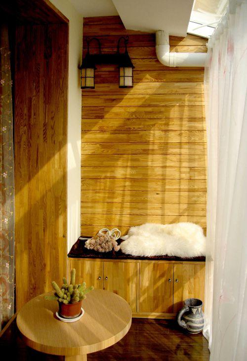 现代简约三居室阳台背景墙装修图片