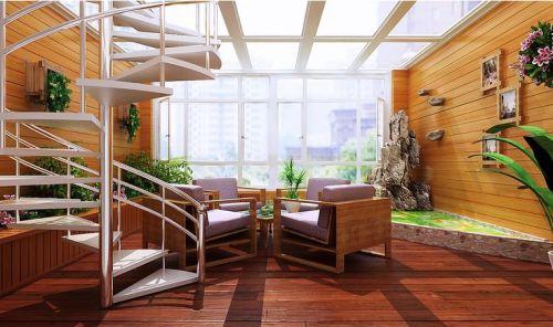 現代簡約二居室陽臺飄窗裝修效果圖