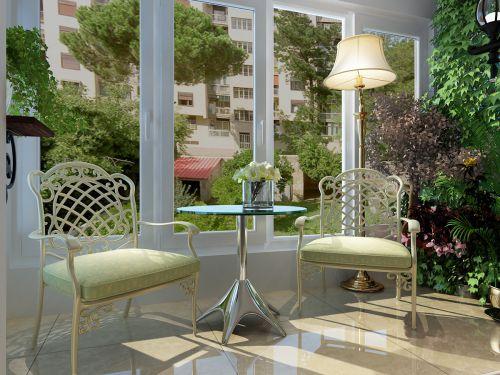 现代简约三居室阳台窗帘装修效果图大全