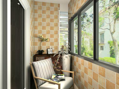 现代简约一居室阳台灯具装修效果图大全