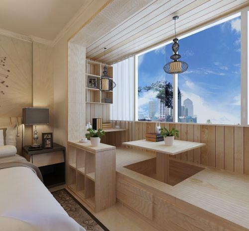 现代简约二居室阳台榻榻米装修效果图大全