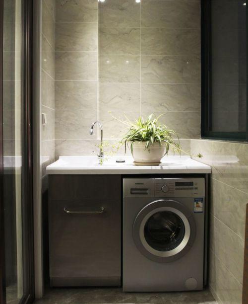 现代简约风格阳台洗衣房洗手台设计