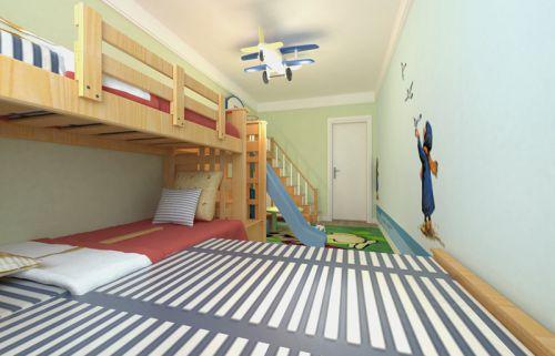 现代简约一居室儿童房婴儿床装修效果图大全